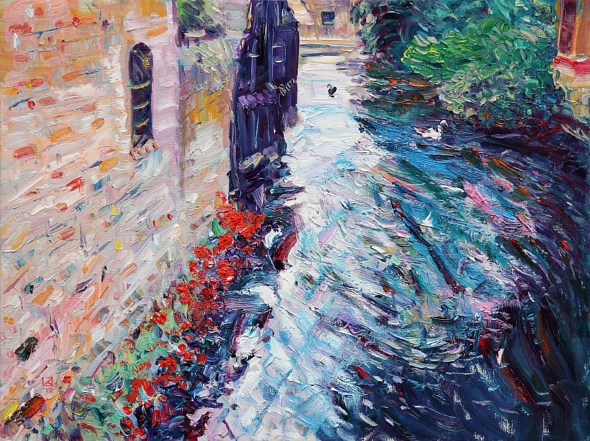 Alley on the Water. 2012. Oil on canvas. 62 х 81