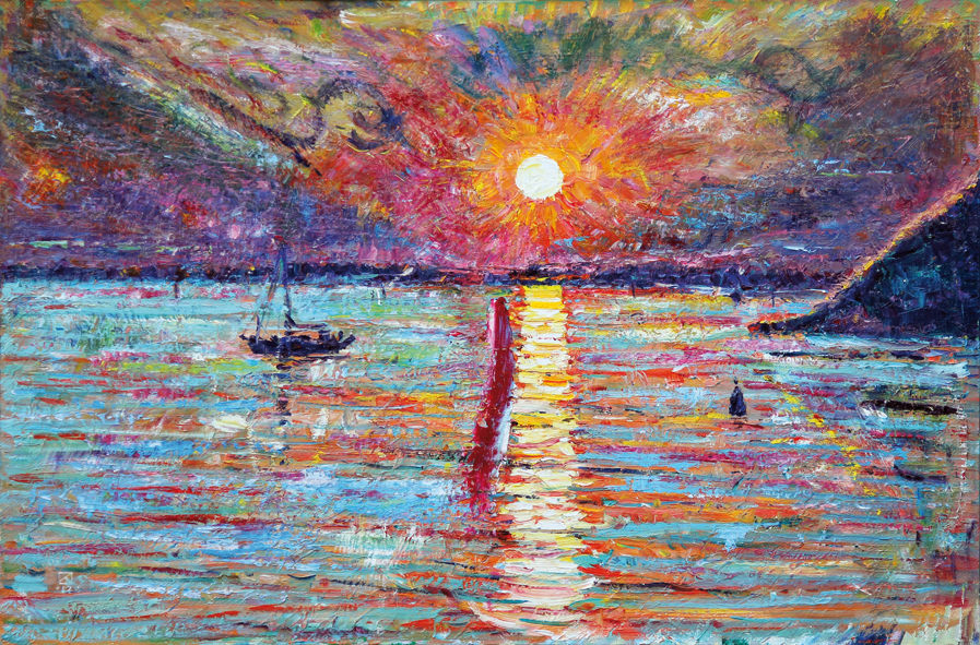 Sunset Two. 2012. Oil on canvas. 70 x 100