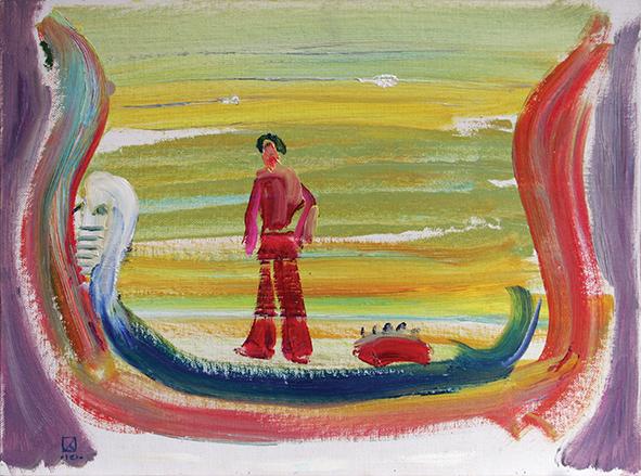 Lido. 2010. Oil on canvas, cardboard. 30 x 40