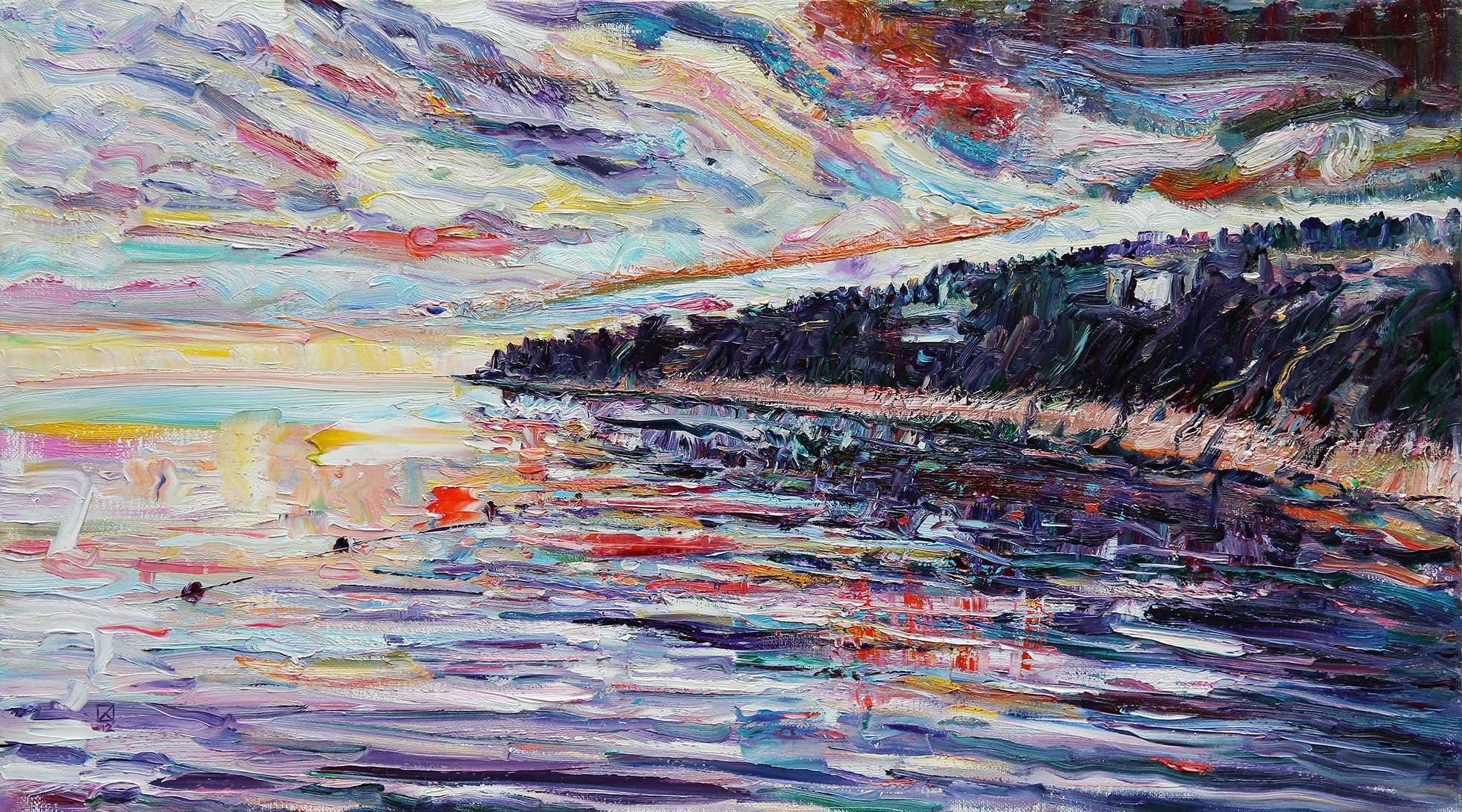 Shore. 2012. Oil on canvas. 70 х 128