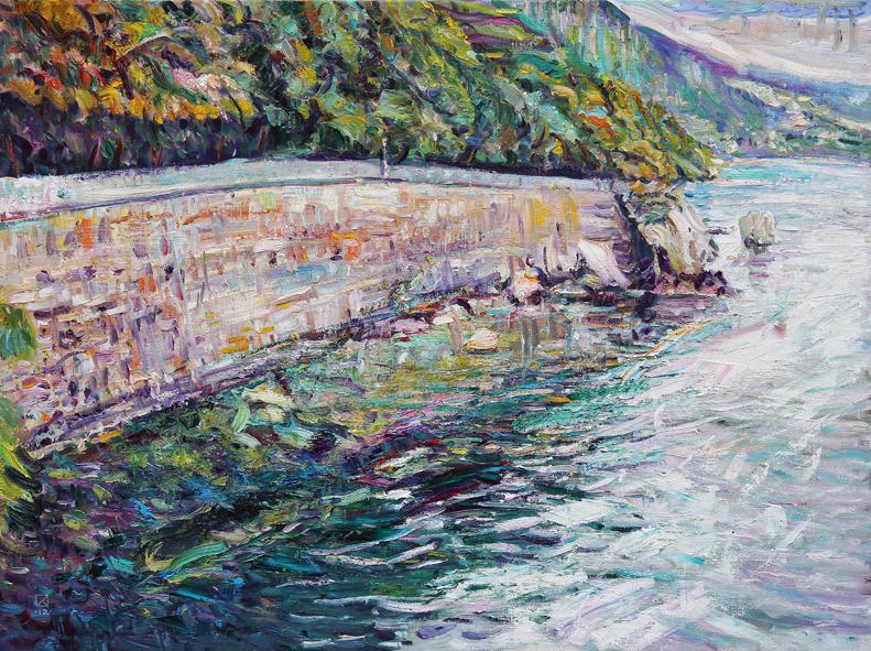 Miramare. Entry. 2012. Oil on canvas. 90 х 120