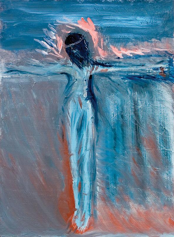 Jesus (1). 2010. Oil on canvas. 74.5 x 54.5