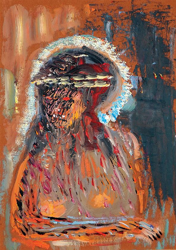 Virgin Mary. 2010. Oil on cardboard. 29.5 x 20.5