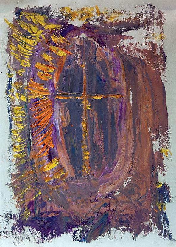 Cathedral (2). 2009. Oil on cardboard. 29.5 х 21