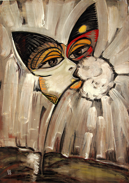 Butterfly and Dandelion. 1993. Mixed media on paper. 86 х 61