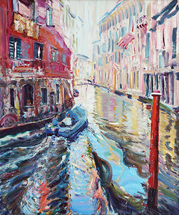 Blue Light. Venice. 2013. Oil on canvas. 120 x 100