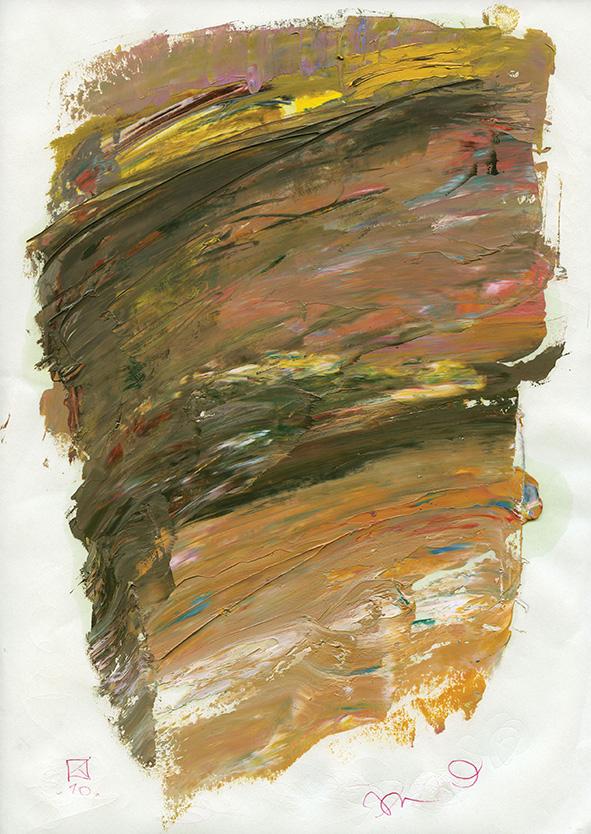 Remainder. 2010. Oil on cardboard. 29.5 х 21
