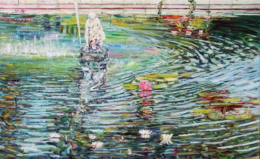 Miramare. Charlotte's Fountain. 2011. Oil on canvas. 164 х 270
