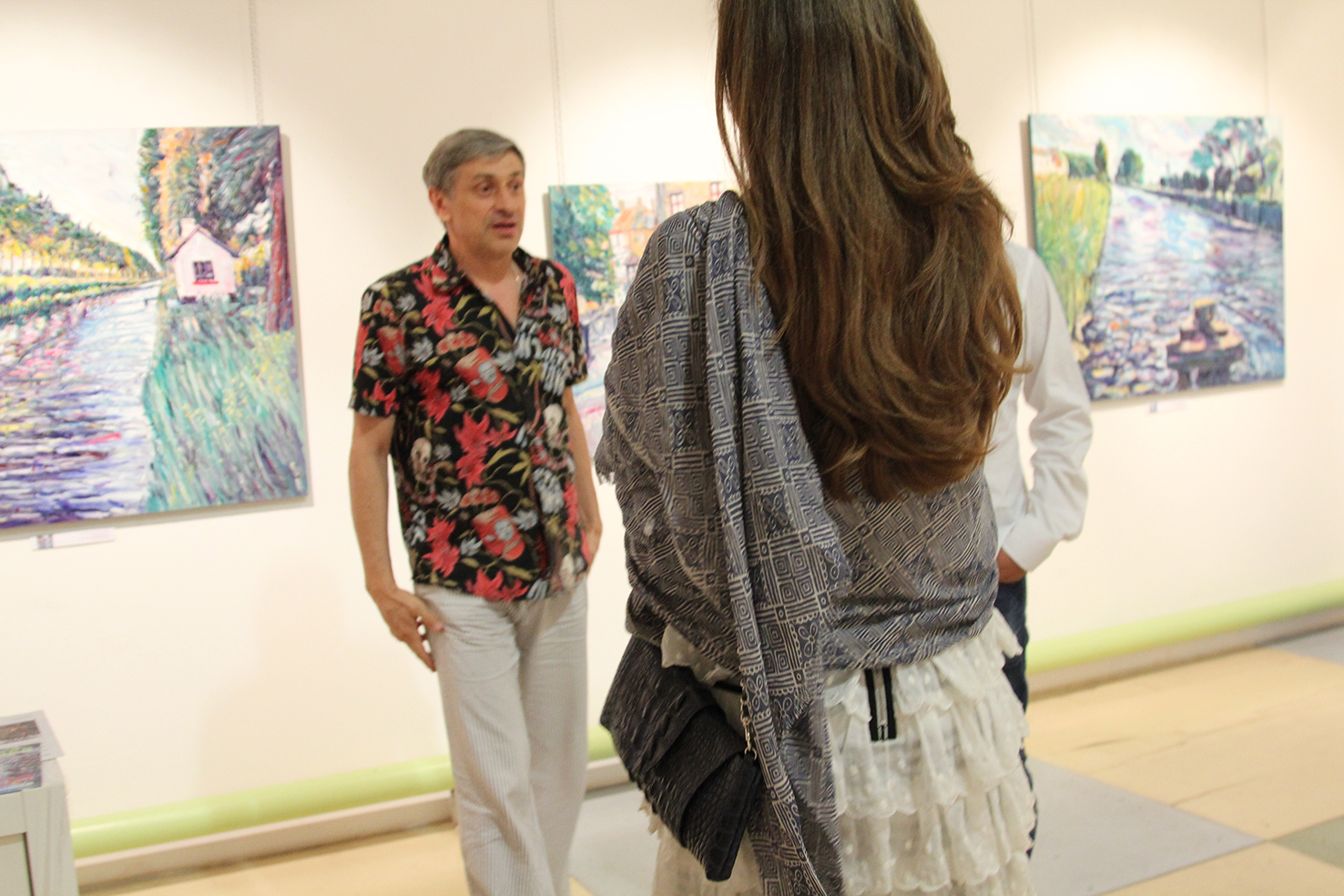 Vernissage of the exhibition 09.08.2012 in the gallery Art Colony on Red October