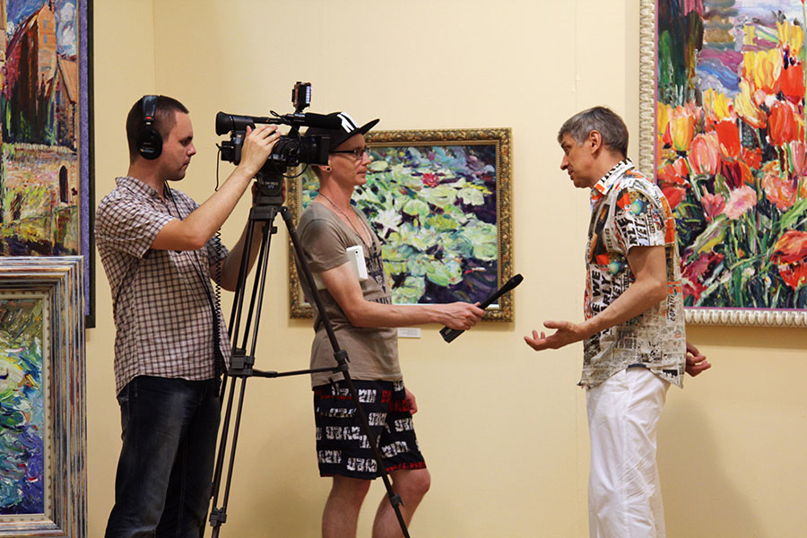 TV Interview, vernissage 25.06.2013