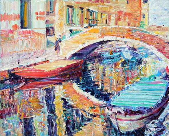 Autumn Sun. Venice. 2012. Oil on canvas. 90 х 110