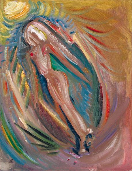 Through The Time. 2010. Oil on canvas, cardboard. 45 х 35