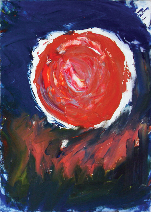 Pink Sphere (incl. in the construction Pink Globe as an Ascent0. 2010. Oil on cardboard. 29.5 х 21