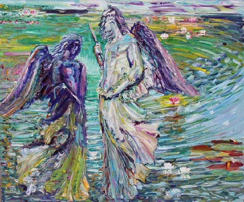 Miramare. Miracle Lake. 2011. Oil on canvas. 100 х 120