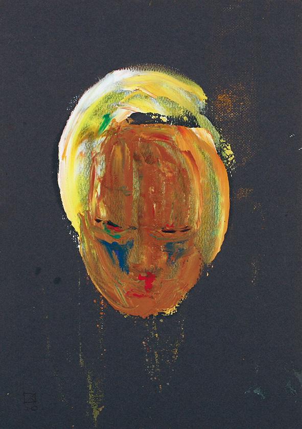Lowered Head. 2010. Oil on cardboard. 29.5 x 21