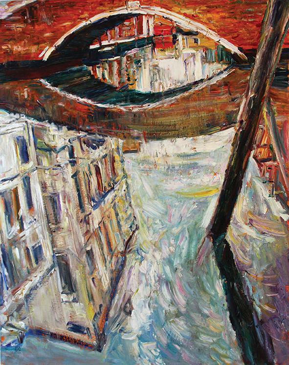 Venetian Eye. 2010. Oil on canvas. 100 х 80