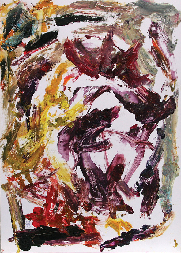 Venice. Darkness. 2010. Oil on cardboard. 29.5 x 21