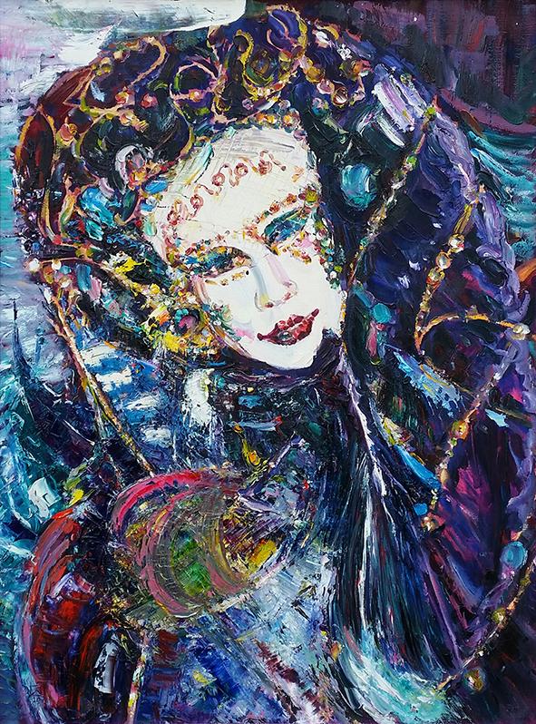 Mask 1. Venice. 2010. Oil on canvas. 80 х 60