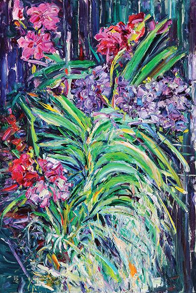 Flowers II. 2013. Oil on canvas. 120 х 80