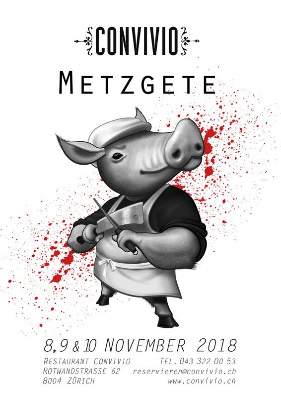 Metzgete mit allem was dazugehört: Blutwurst, Leberwurst, Haxe, Leberli, Schlachtplatte, Dörrbohnen, Salzkartoffeln, Äpfel, Sauerkraut