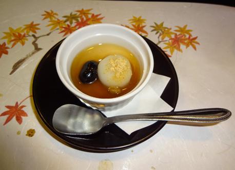 白玉とコーヒー豆のデザート