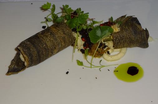 メニュー 茄子と木の皮