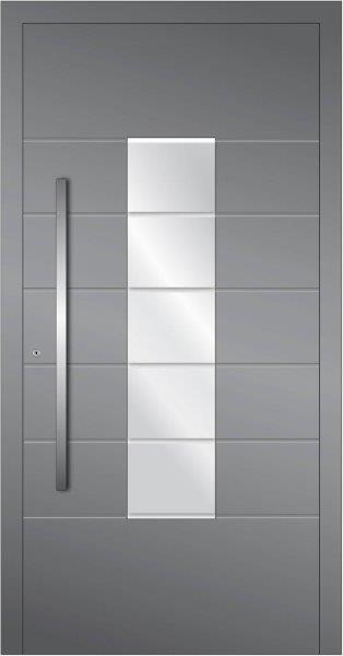 Porta d'ingresso in alluminio vetrata