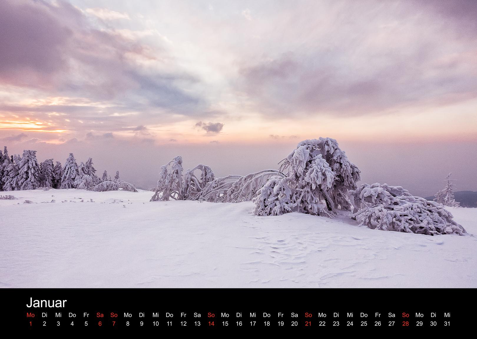 Schwarzwald-Kalender 2018 Januar