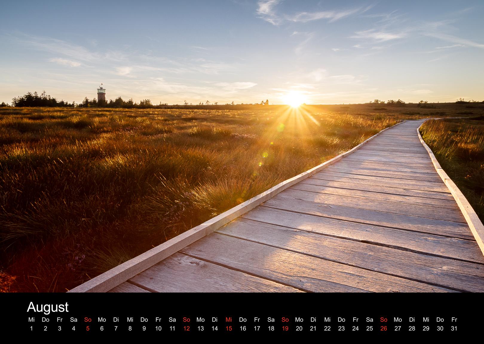 Schwarzwald-Kalender 2018 August