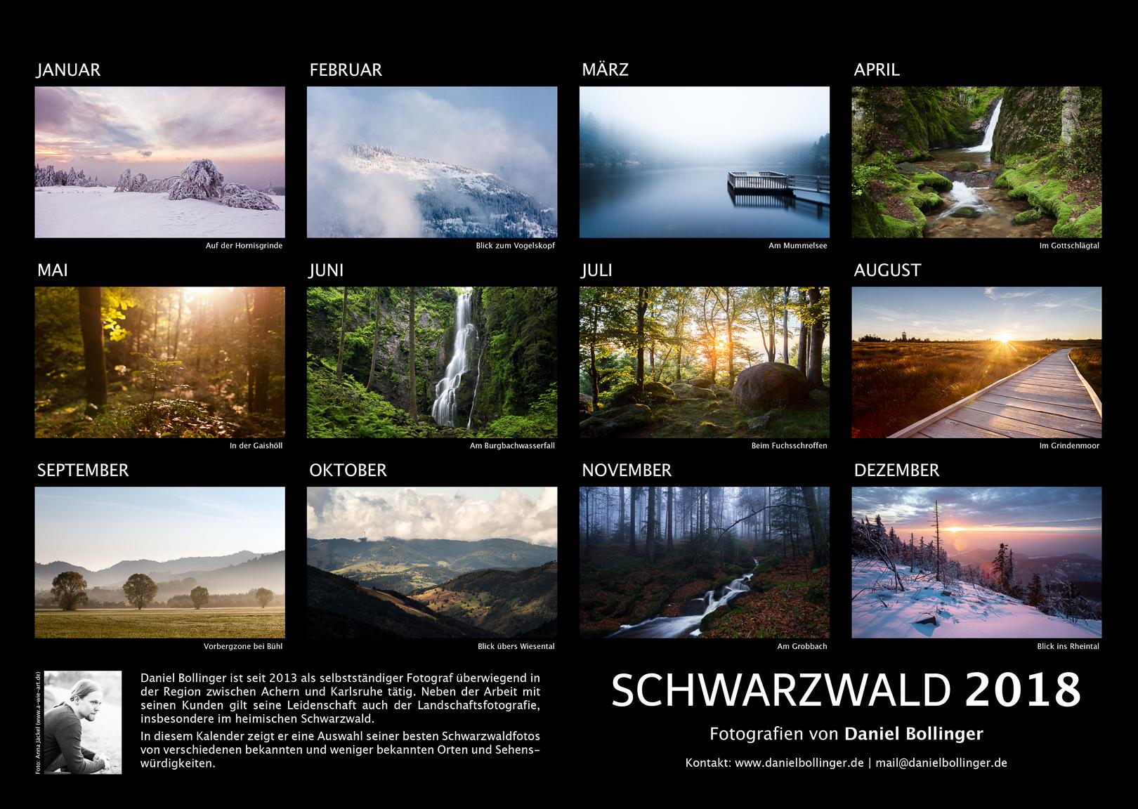 Schwarzwald-Kalender 2018 Motivübersicht