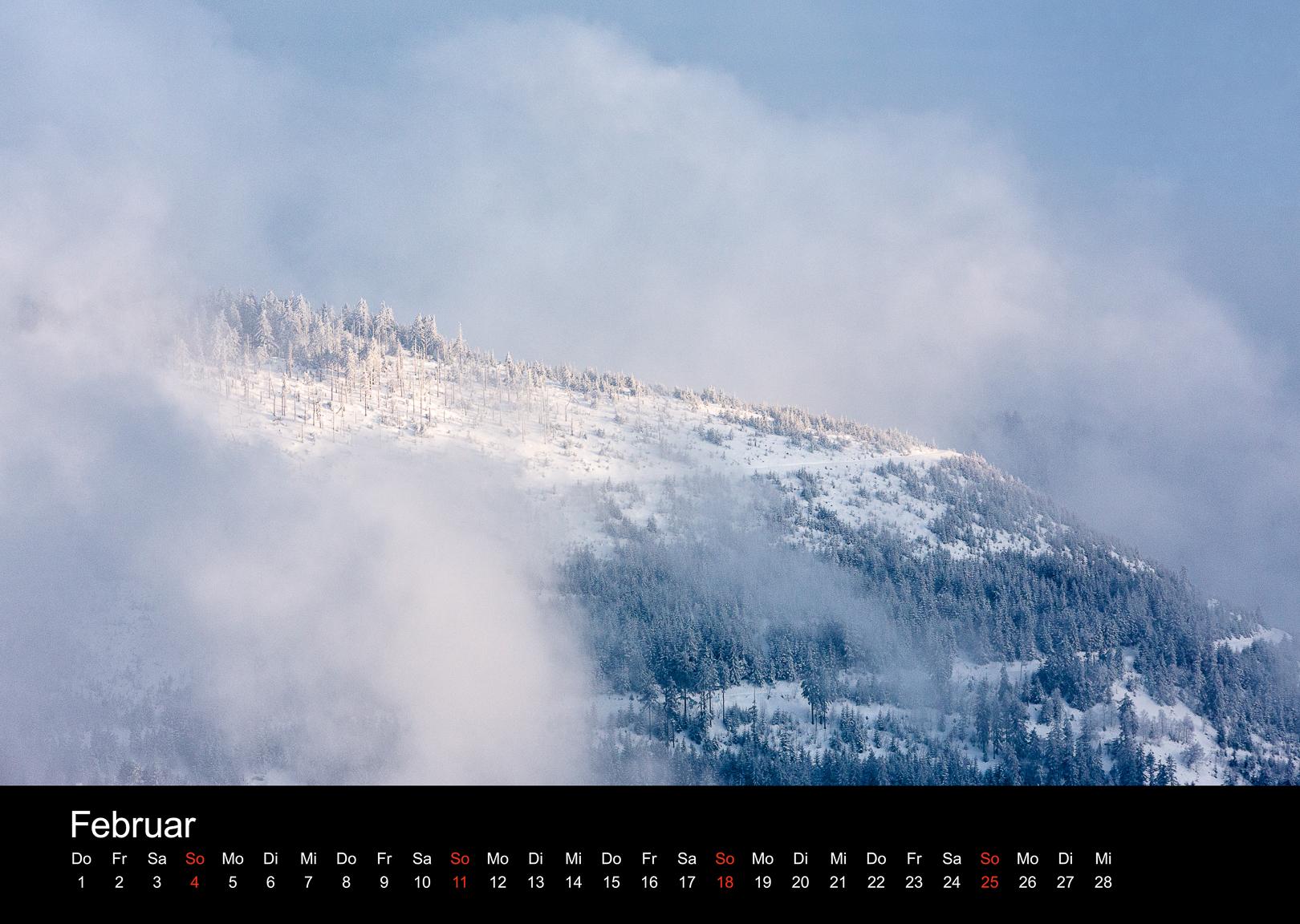 Schwarzwald-Kalender 2018 Februar