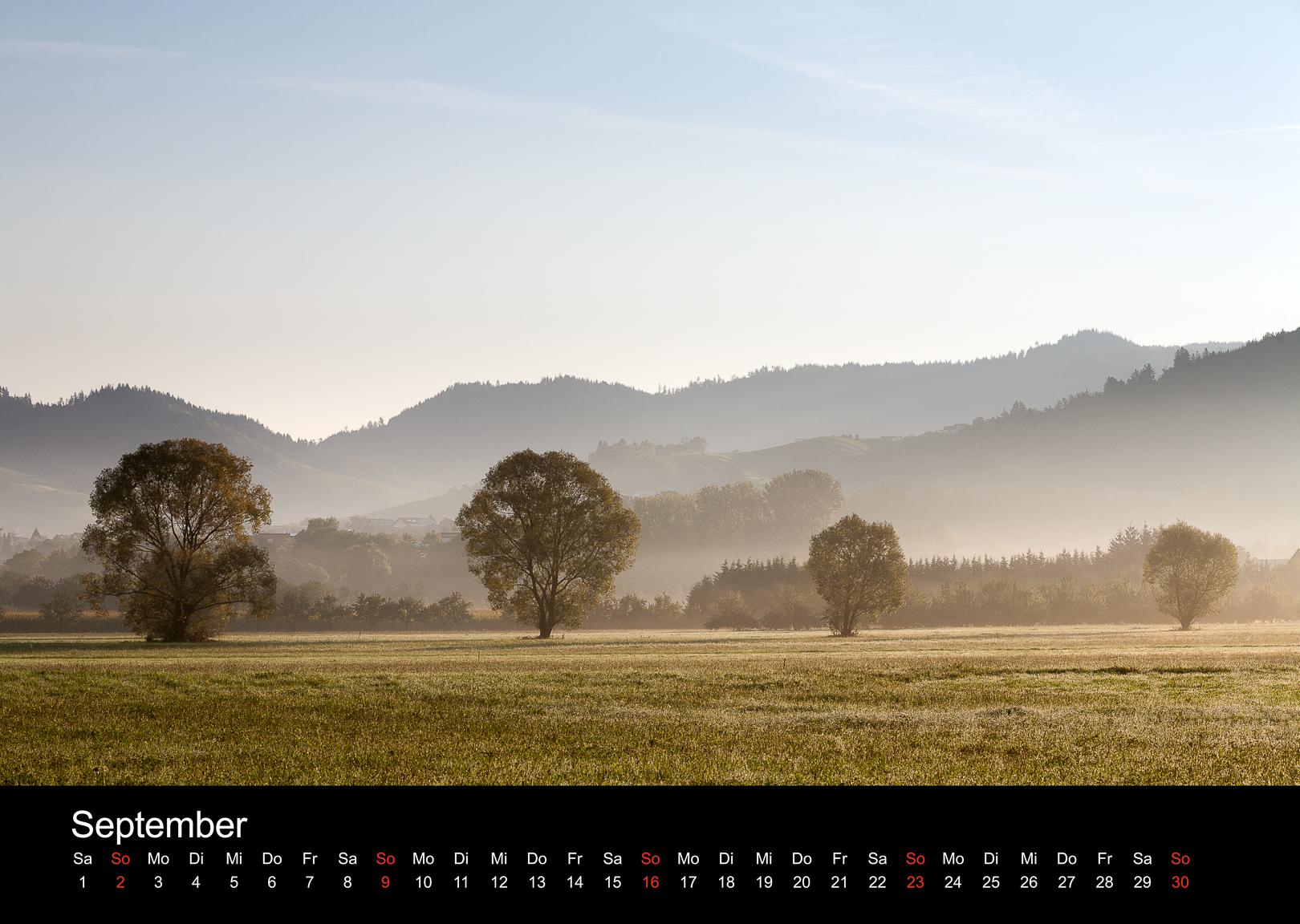 Schwarzwald-Kalender 2018 September