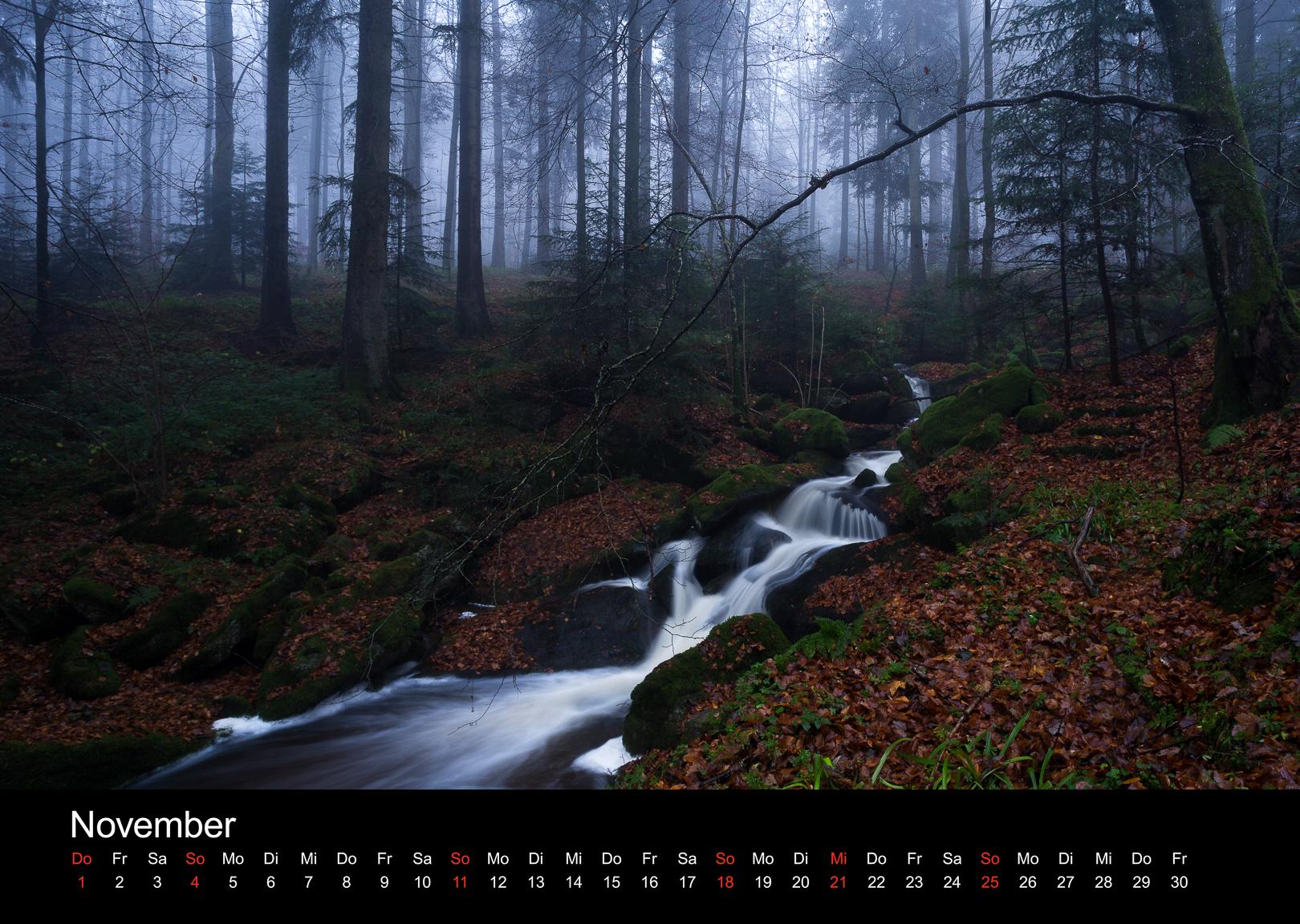 Schwarzwald-Kalender 2018 November