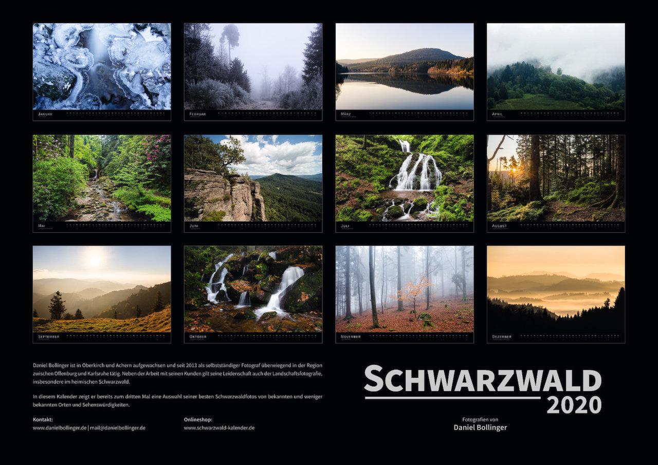 Schwarzwald-Kalender 2020 Motivübersicht