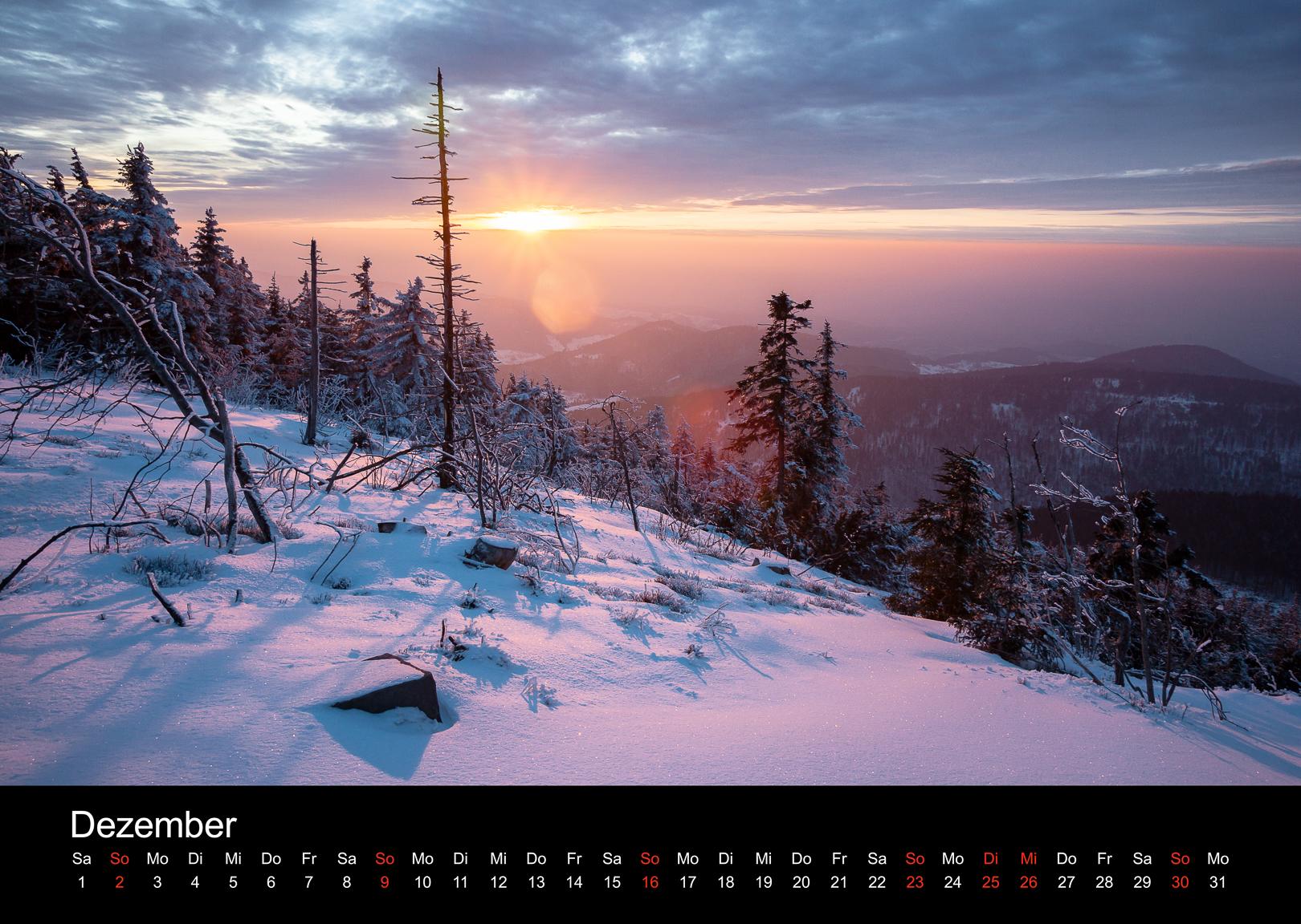 Schwarzwald-Kalender 2018 Dezember