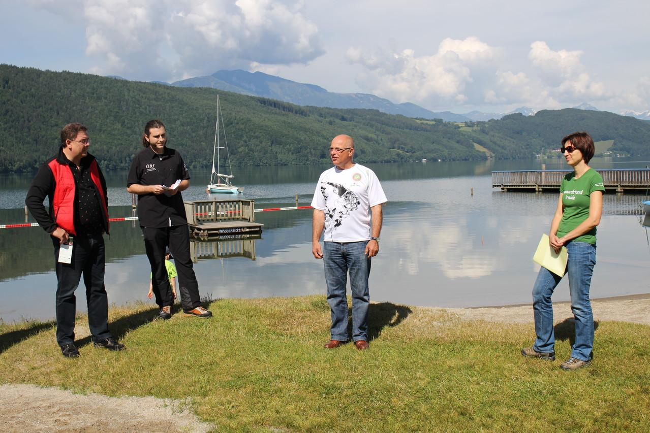 (v.l.n.r.) Gerald Loidl (NF Kärnten), Andreas Haas (ÖBF), Martin Hipp (BM Radenthein), Andrea Lichtenecker (NFI)