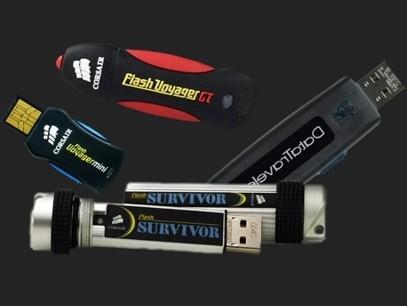 Clés USB et mémoires Flash.