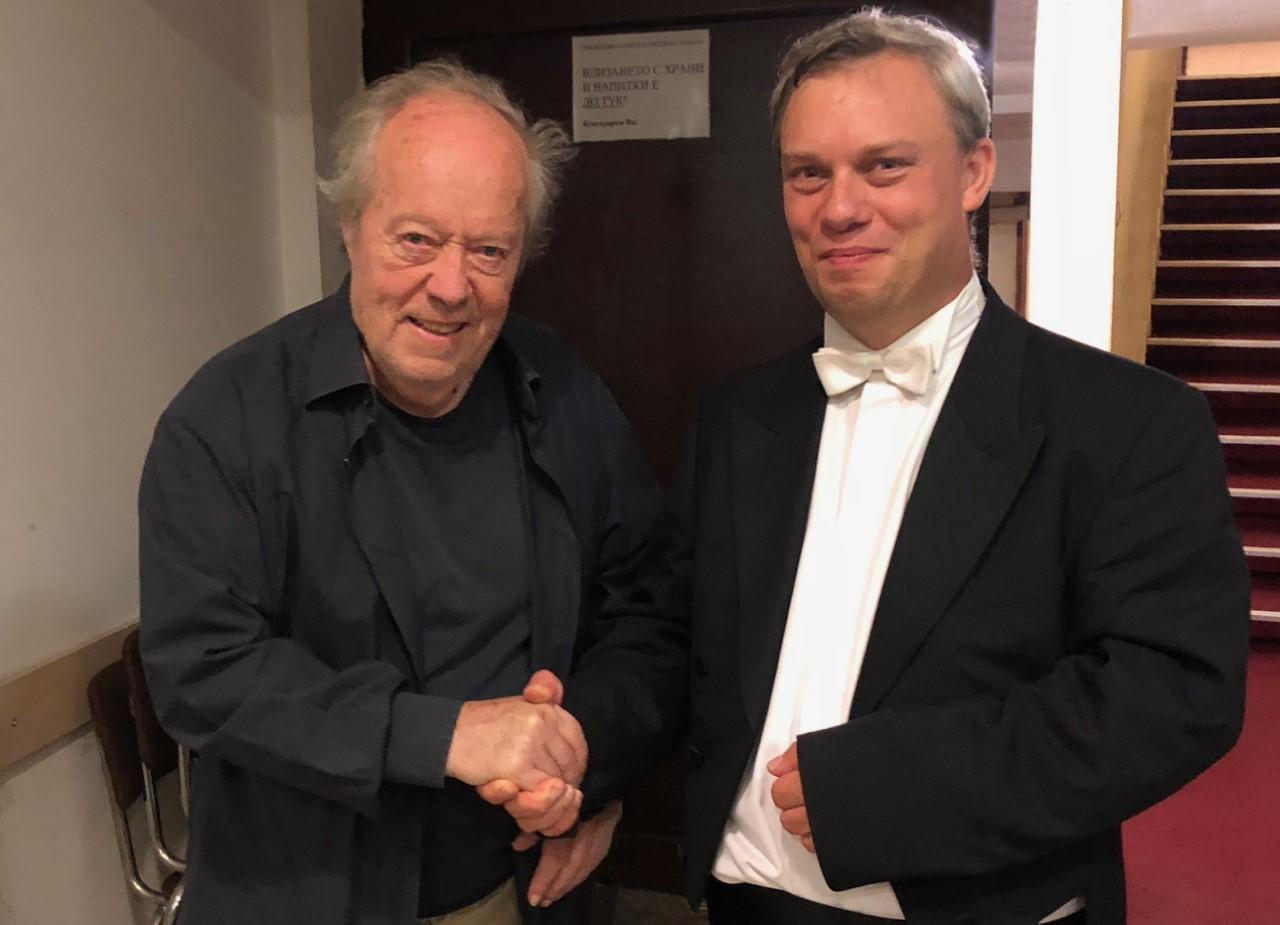 Mit dem Maestro Jorma Panula