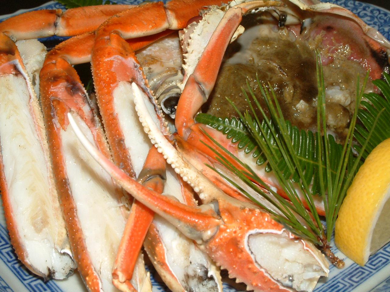 松葉蟹 焼物 一例