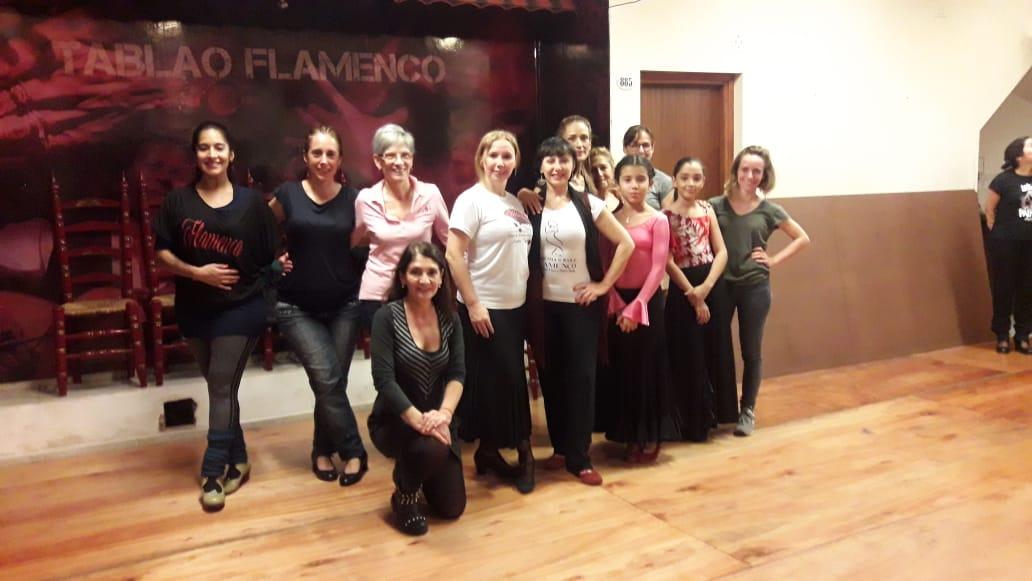 tomando clase flamenca con Alicia Fiuri(Bs As)