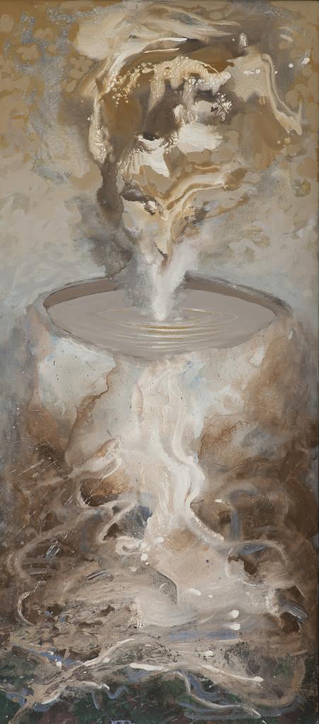 2009, Überfluss, 165x70, Acryl-Leinwand