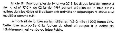 Extrait de la Loi de Finance du 28.12.2013