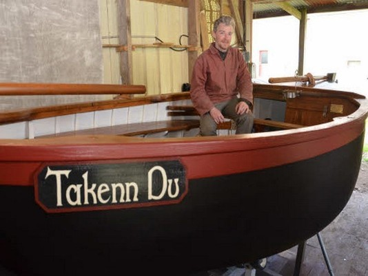 >>>>>>>> Le Télégramme du samedi 20 avril 2013  - « Takenn du » à bon port à Saint-Goustan < < <<<<