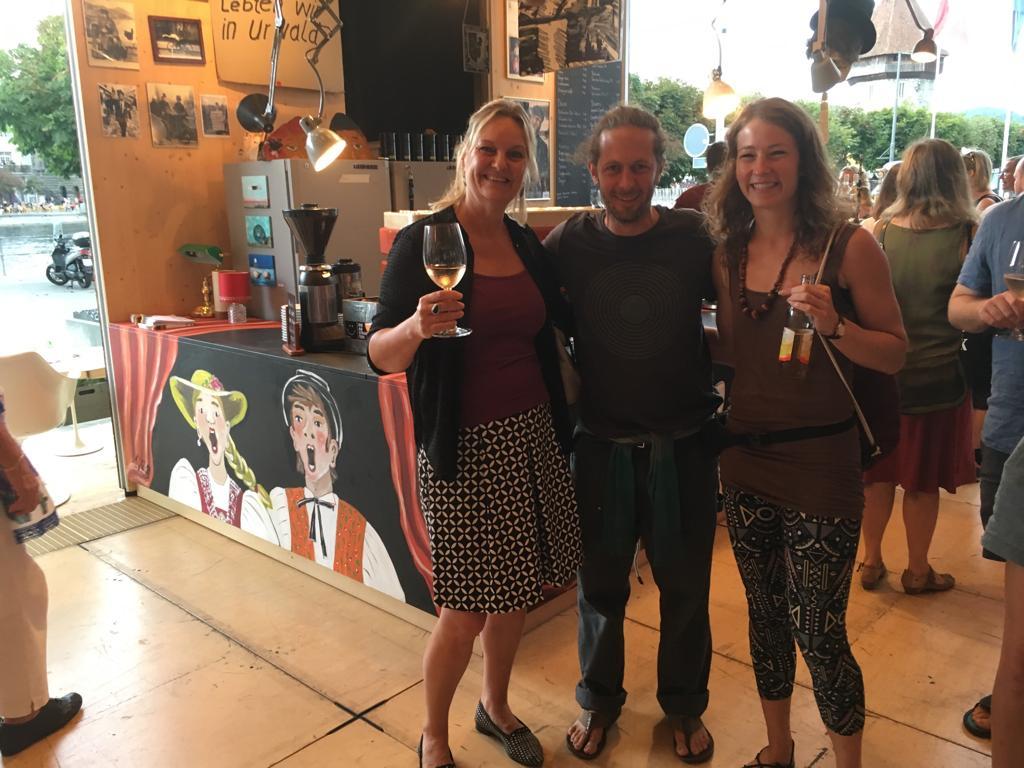 Bei der Eröffnung der Café Bar Güllen beim Luzerner Theater, 2019
