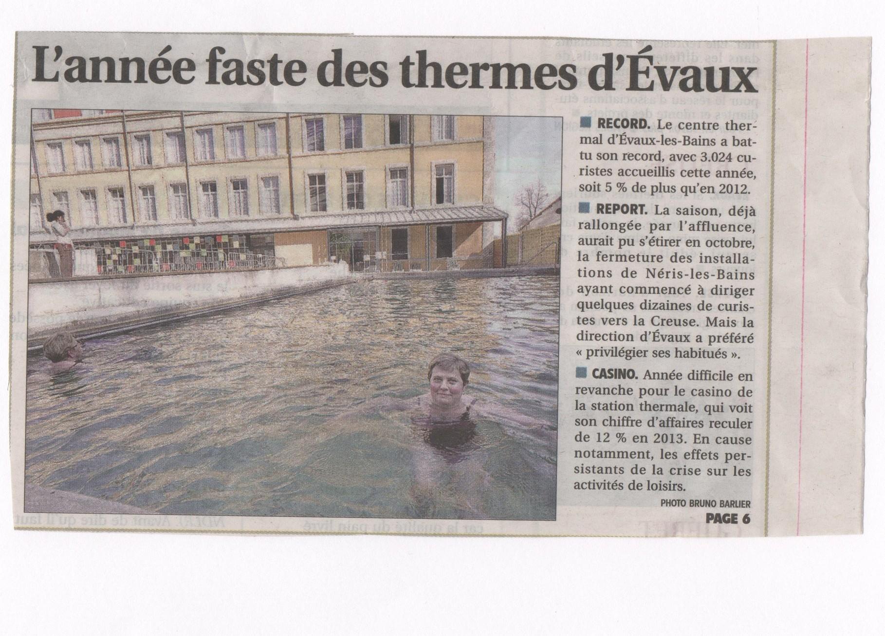 Des articles de presse sur evaux les bains location de for Article pour le bain