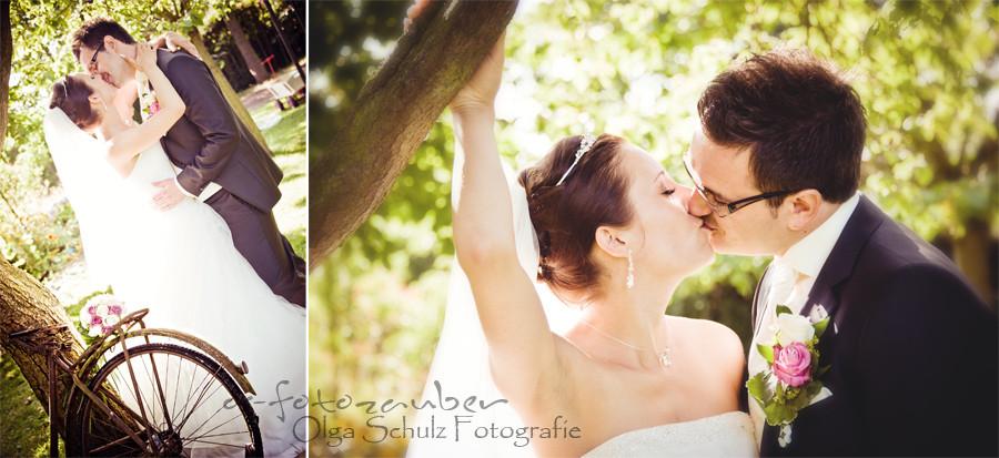 Brautpaarshooting, Waldorfer Hof, Kuss, Fotografin Koblenz
