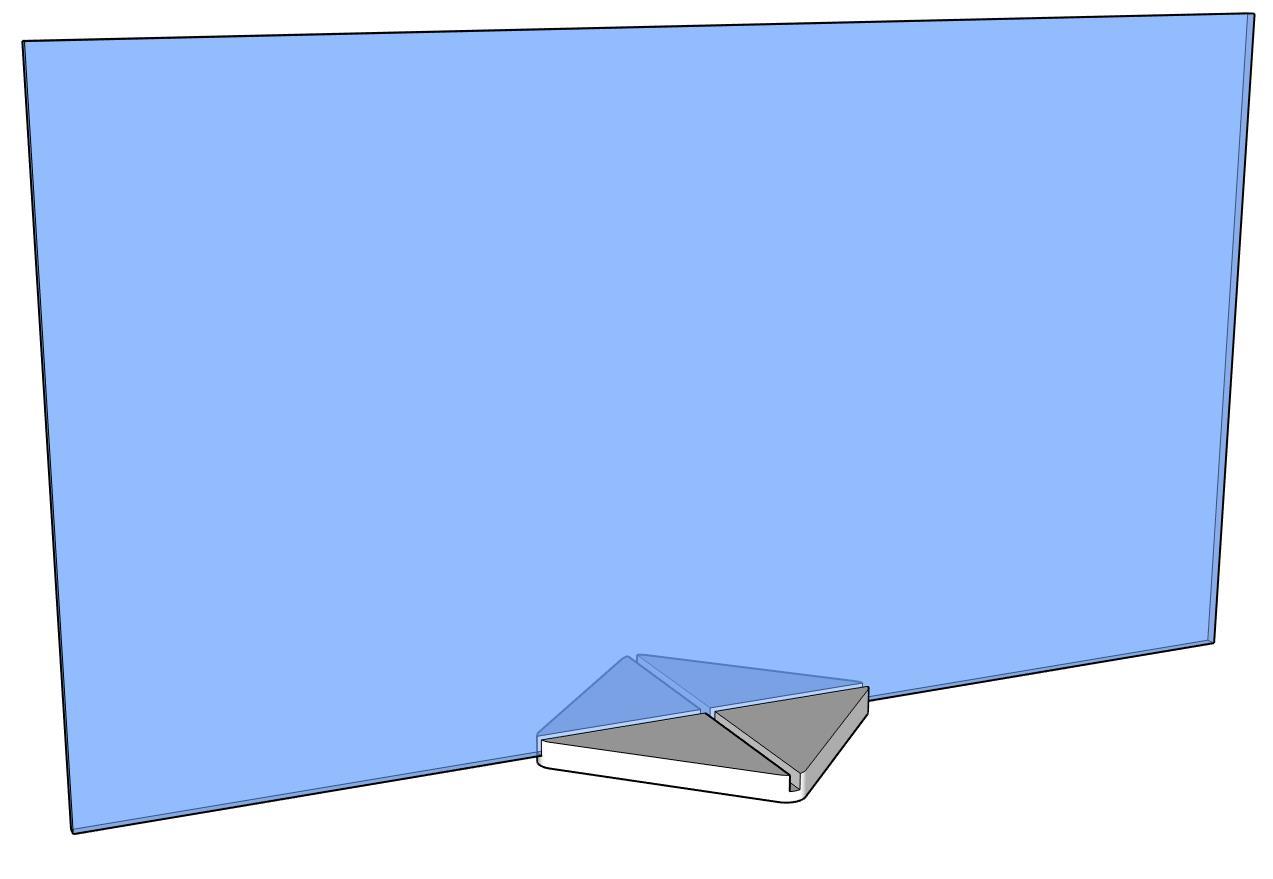 Scheibe mit Quadrat-Kreuzsteller