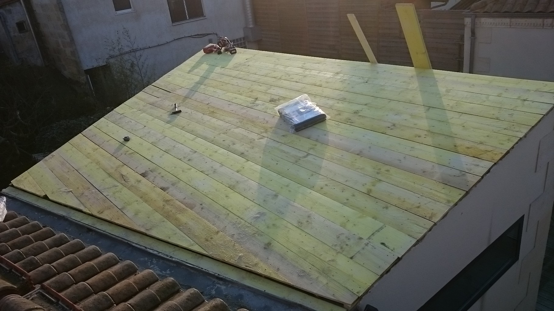 Voligeage de la toiture Bordeaux