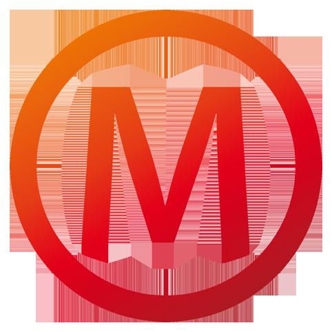 das rote logo im titel