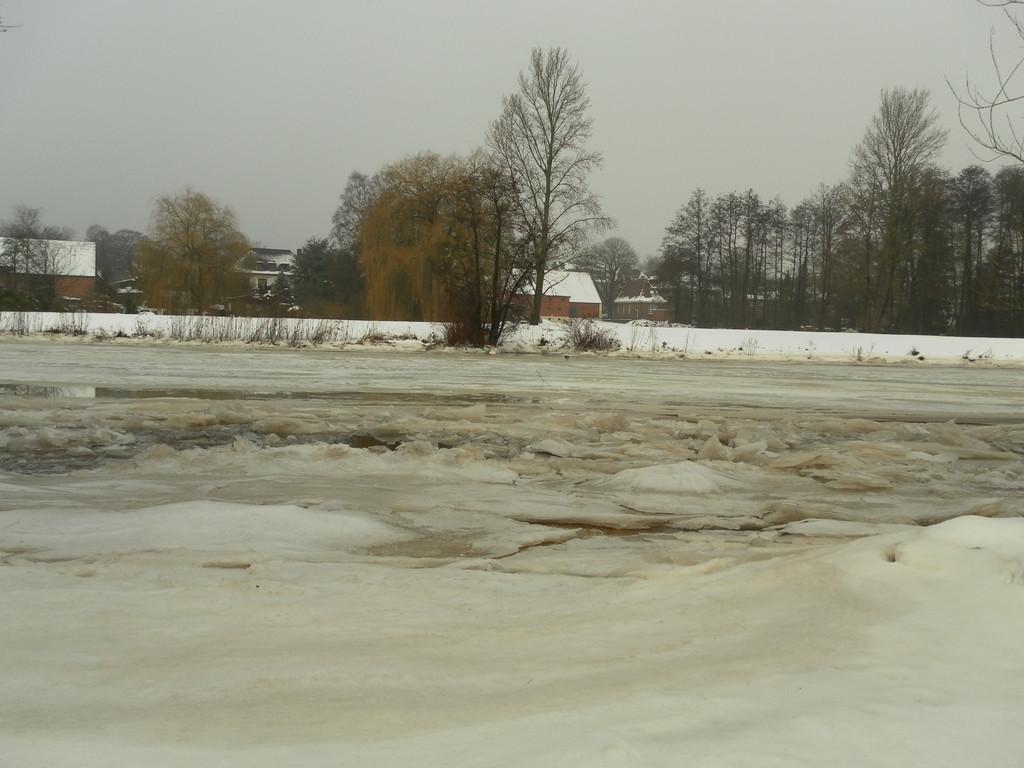 Die Hamme mit Eis bedeckt